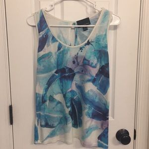 Cynthia Rowley tropical print sleeveless top
